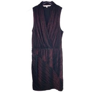 RACHEL Rachel Roy Pleated Metallic Surplice Dress